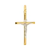 Złota zawieszka krzyżyk z Jezusem
