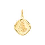 Złota zawieszka medalik z diamentowaniami