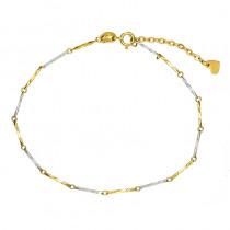Gustowna bransoletka z żółtego i białego złota Prezent Grawer GRATIS