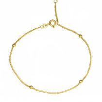 Klasyczna złota bransoletka z ozdobnymi kulkami Prezent Grawer GRATIS