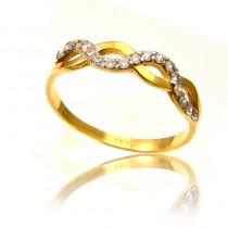 Uroczy elegancki złoty pierścionek