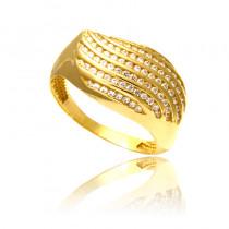 Dwukolorowy złoty pierścionek