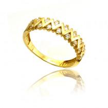 Finezyjny złoty pierścionek