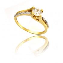 Ekskluzywny złoty pierścionek Prezent Grawer GRATIS