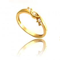 Wykwintny złoty pierścionek