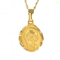 Piękny złoty komplet medalik z łańcuszkiem