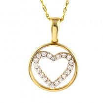 Złoty komplet  łańcuszek z sercem w kółku