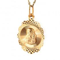 Śliczny złoty komplet medalik z łańcuszkiem
