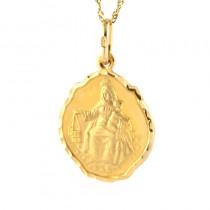 Złoty komplet medalik z łańcuszkiem