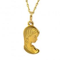Oryginalny złoty komplet zawieszka i łańcuszek