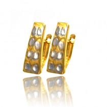 Czarujące diamentowane złote kolczyki