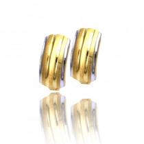 Urokliwe dwubarwne złote kolczyki