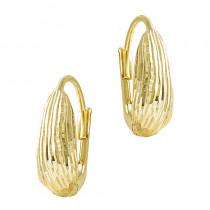 Lśniące złote diamentowane kolczyki Prezent Grawer GRATIS