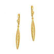 Efektowne złote diamentowane kolczyki Prezent Grawer GRATIS