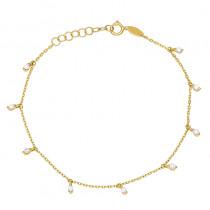 Złota bransoletka z cyrkoniami Grawer GRATIS