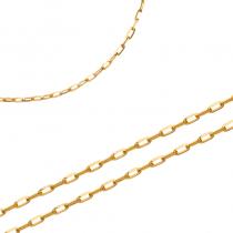 Błyszczący złoty łańcuszek Prezent Grawer GRATIS