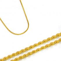 Złoty żółty błyszczący łańcuszek
