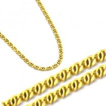 Złoty uroczy łańcuszek