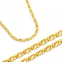 Złoty zółty urokliwy łańcuszek