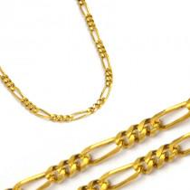 Złoty żółty łańcuszek figaro