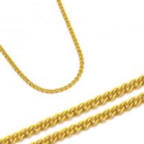 Złoty żółty łańcuszek mona lisa