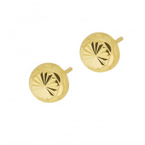 Wyraziste złote kolczyki diamentowane Grawer GRATIS