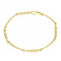 Złota bransoletka wyrafinowanymi diamentowaniami Grawer GRATIS
