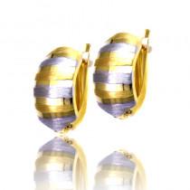 Eleganckie dwukolorowe diamentowane kolczyki