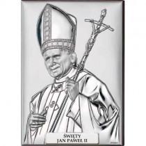 Klasyczny srebrny obrazek Papież Jan Paweł II