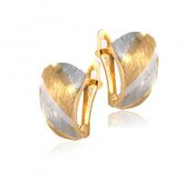 Wytworne diamentowane złote kolczyki