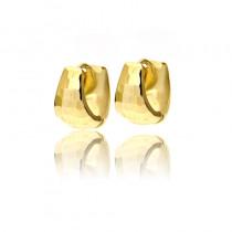 Oryginalne subtelne złote kolczyki