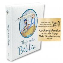 BIBLIA DLA DZIECI NA CHRZEST PREZENT Z GRAWEREM