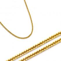 Złoty żółty delikatny łańcuszek