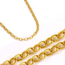 Złoty luksusowy łańcuszek