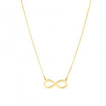 Złoty naszyjnik modny Znak Nieskończoności