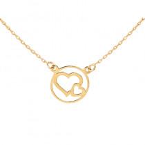 Złoty naszyjnik złączone serca