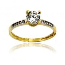 Wytworny pierścionek z żółtego złota