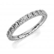 Złoty pierścionek obrączka z cyrkoniami pr.333