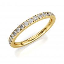 Złoty pierścionek obrączka zdobiona cyrkoniami