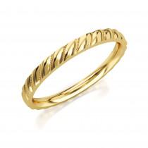 Pierścionek złoty, obrączka o subtelnym splocie