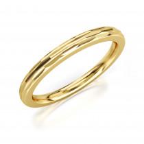 Pierścionek złoty, obrączka o subtelnym zdobieniu