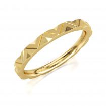 Pierścionek złoty, geometryczna obrączka