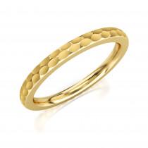 Pierścionek złoty, obrączka wyjątkowo zdobiona