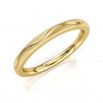 Pierścionek złoty,  obrączka żłobiona