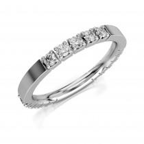 Złoty pierścionek, obrączka zdobiona cyrkoniami pr.333