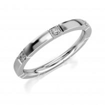 Złoty pierścionek, obrączka zdobiona 7 cyrkoniami pr.333