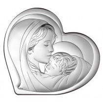 Obrazek srebrny Matka Boska Pamiątka Ślubu Chrztu