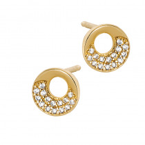 Eleganckie złote kolczyki z cyrkoniami Prezent Grawer GRATIS