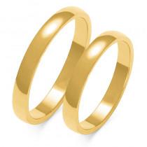 Obraczki ślubne złote, pólokrągłe, 3mm