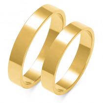 Obraczki ślubne złote, płaskie, 4,00 mm